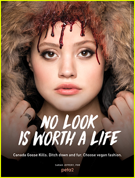Sarah Jeffery Has Blood Dripping Down Her Face in Peta2's New Campaign (Exclusive)