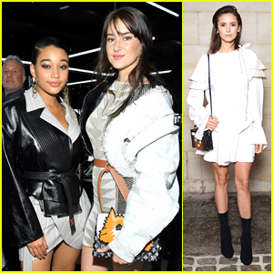 Shailene Woodley, Amandla Stenberg & Nina Dobrev Step Out For Louis Vuitton's Paris Fashion Week Show