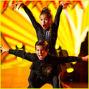 Skateboarder Sky Brown & JT Church are Spooky Spiders on 'DWTS Juniors' Halloween Night - Watch Now!