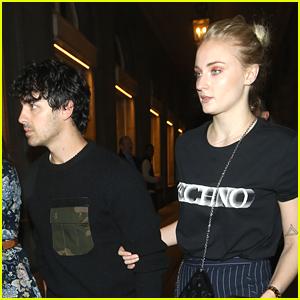 Sophie Turner Holds Onto Joe Jonas During Date Night!
