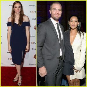 Candice Patton & Danielle Panabaker Support Stephen Amell at Heroes Gala!