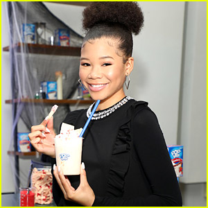Storm Reid Tries Out Tricks & Treats with Pop Tarts in NYC