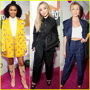 Yara Shahidi, Sabrina Carpenter, & Katherine McNamara Attend the #GirlHero Awards!