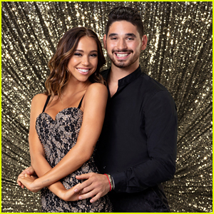 DWTS' Alexis Ren & Alan Bersten Share A Kiss in New Video - Watch!
