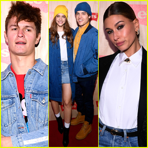 Ansel Elgort, Hailey Baldwin, & More Stars Step Out for Levi's Store Opening in NYC!