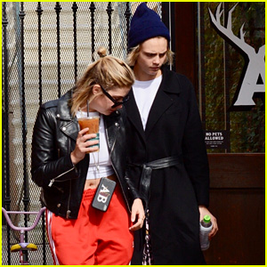 Cara Delevingne & Rumored GF Ashley Benson Head Out for Coffee Together!