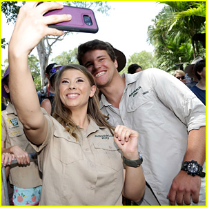 Bindi Irwin Celebrates Steve Irwin Day with Chandler Powell at Australia Zoo