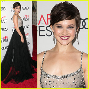 Cailee Spaeny Stuns in Miu Miu Gown at AFI Festival Opening Night