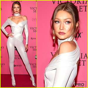 Gigi Hadid Slays Pink Carpet in Skin-Tight Jumpsuit for VS After Party!