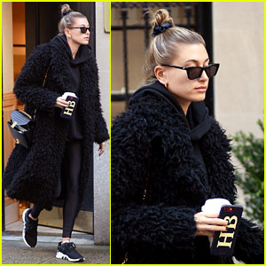 Hailey Baldwin Bundles Up in Furry Coat After Justin Bieber Calls Her His 'Wife!'