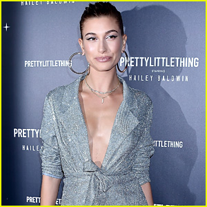 Hailey Baldwin Looks So Chic at PrettyLittleThing x Hailey Baldwin Campaign Launch!