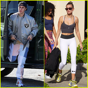 Justin Bieber Works on New Music as Wife Hailey Bares Her 'Bieber' Necklace