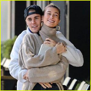 Justin & Hailey Bieber Show Some Cute PDA on Their Coffee Run!