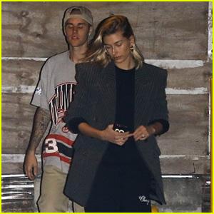 Justin Bieber & Hailey Baldwin Attend Church Service on Halloween Night!