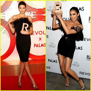 Kendall Jenner & Shay Mitchell Slay in Black Dresses at Revolve Awards!