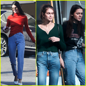 Kaia Gerber & Charlotte Lawrence Hang Out with Friend Kendall Jenner