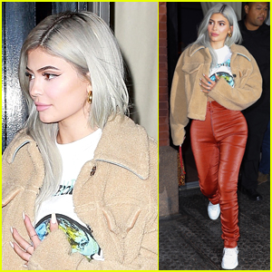 Kylie Jenner Debuts New Frosty Look in NYC!