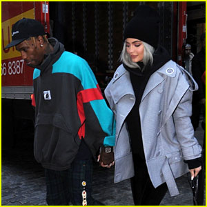 Kylie Jenner & Travis Scott Hold Hands While Stepping Out in NYC