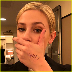 Lili Reinhart Takes A Stance Against Bullying With the Unify Selfie Challenge