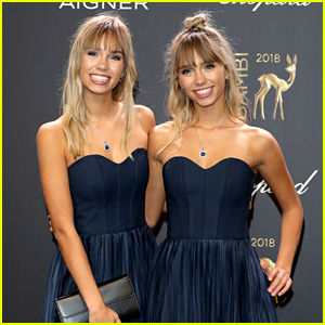Lisa & Lena Mantler Match in Dark Blue at Bambi Awards 2018