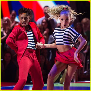 Mandla Morris & Brightyn Brems Party It Up With a Cha Cha on 'DWTS Juniors' - Watch Now!