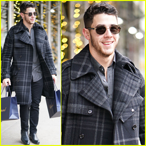 Nick Jonas Bundles Up for Shopping Trip in NYC
