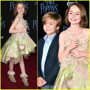 'Mary Poppins Returns' Young Stars Pixie Davies & Joel Dawson Step Out For Magical Premiere