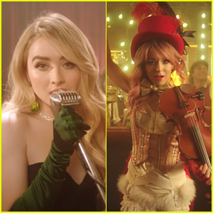 Sabrina Carpenter Teams Up With Lindsey Stirling on 'You're a Mean One, Mr. Grinch' Music Video