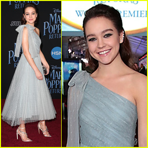 Sadie Stanley Turned Into A Princess For 'Mary Poppins Returns' Premiere