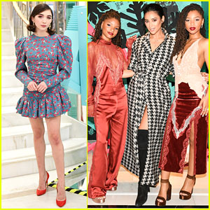 Rowan Blanchard, Shay Mitchell, & Chloe X Halle Exchange Secret Santa Gifts With Tiffany & Co!
