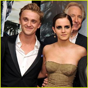 Tom Felton Says He & Emma Watson 'Reunite All the Time!'