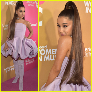 Ariana Grande Stuns on the Red Carpet at Billboard's Women in Music 2018 Event!