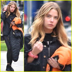 Ashley Benson Stops By Salon Before Heading To Portland