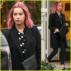 Ashley Tisdale Shows Off Her Pink Hair During Shopping Spree!