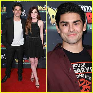 Diego Tinoco Joins Engaged Couple Sydney Sierota & Cameron Quiseng at 'Dragon Ball Super: Broly' Premiere