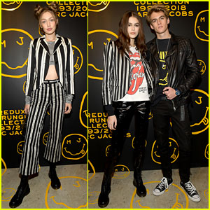 Gigi Hadid Joins Kaia & Presley Gerber at Marc Jacobs' New Store Opening