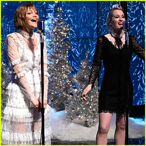 Grace VanderWaal Joins Ingrid Michaelson To Perform 'Rockin' Around The Christmas Tree' on 'Live'