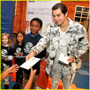 Jake T. Austin Spreads Christmas Cheer By Passing Out Presents at Holiday Party For Boys & Girls Club of Hollywood