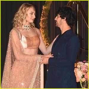 Joe Jonas & Sophie Turner Look Happy to Celebrate at Nick Jonas & Priyanka Chopra's Wedding Reception in India!