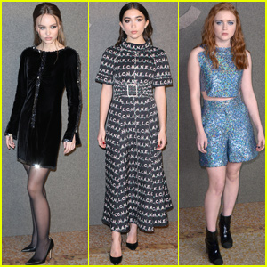 Lily-Rose Depp Joins Rowan Blanchard & Sadie Sink at 'Chanel' Metiers D'Art Show