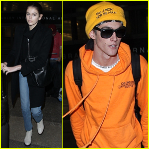 Kaia & Presley Gerber Return Home to L.A. After The Fashion Awards 2018