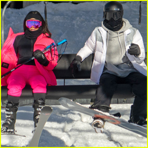 Kendall Jenner Bundles Up While Skiing with Big Sis Kim Kardashian!