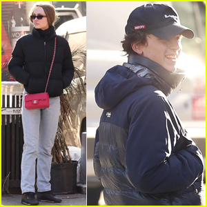 Lily-Rose Depp Hangs Out with Boyfriend Timothee Chalamet in NYC!