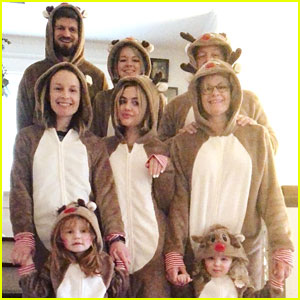 Lucy Hale, Debby Ryan, Laura Marano & More Share Family Matching PJs Christmas Day Photos