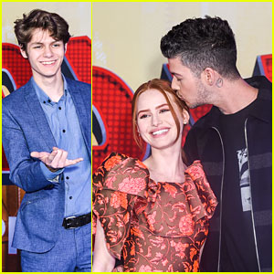 Madelaine Petsch & Travis Mills Couple Up at 'Spider-Man: Into The Spider-Verse' Premiere