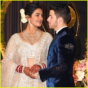 Nick Jonas & Priyanka Chopra Look So Happy Together at Their Wedding Reception in India!