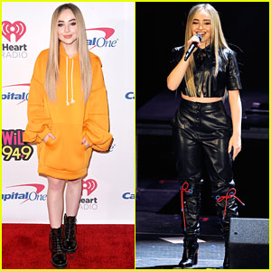 Sabrina Carpenter Wears an Oversized Sweater to WiLD 94.9's Jingle Ball