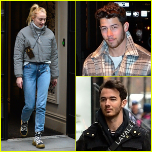 Sophie Turner Hangs Out with Future Brothers-in-Law Nick & Kevin Jonas!