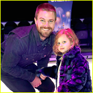 Stephen Amell Cries After Bringing Daughter To Disney On Ice