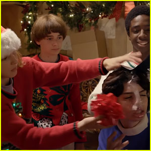 'Stranger Things' Cast Wraps Presents in Hilarious Holiday Video - Watch Now!